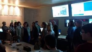 Visiting the Virgo control room during the GOLD event at EGO (May 2015)