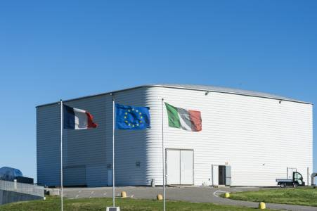 Central building of the Virgo interferometer