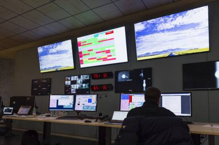 Advanced Virgo control room (January 2016)