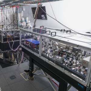Optical benches where the Virgo laser beam is generated
