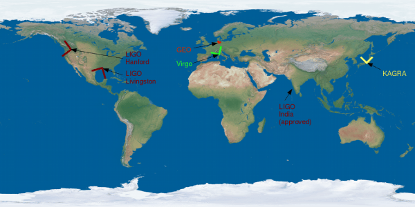 Localisation of the present and future kilometric interferometers in the world