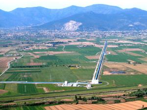Aerial view of Virgo, looking north