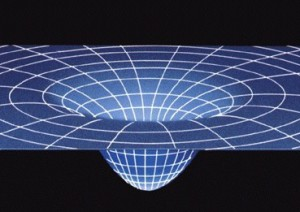 Artist's impression of space-time